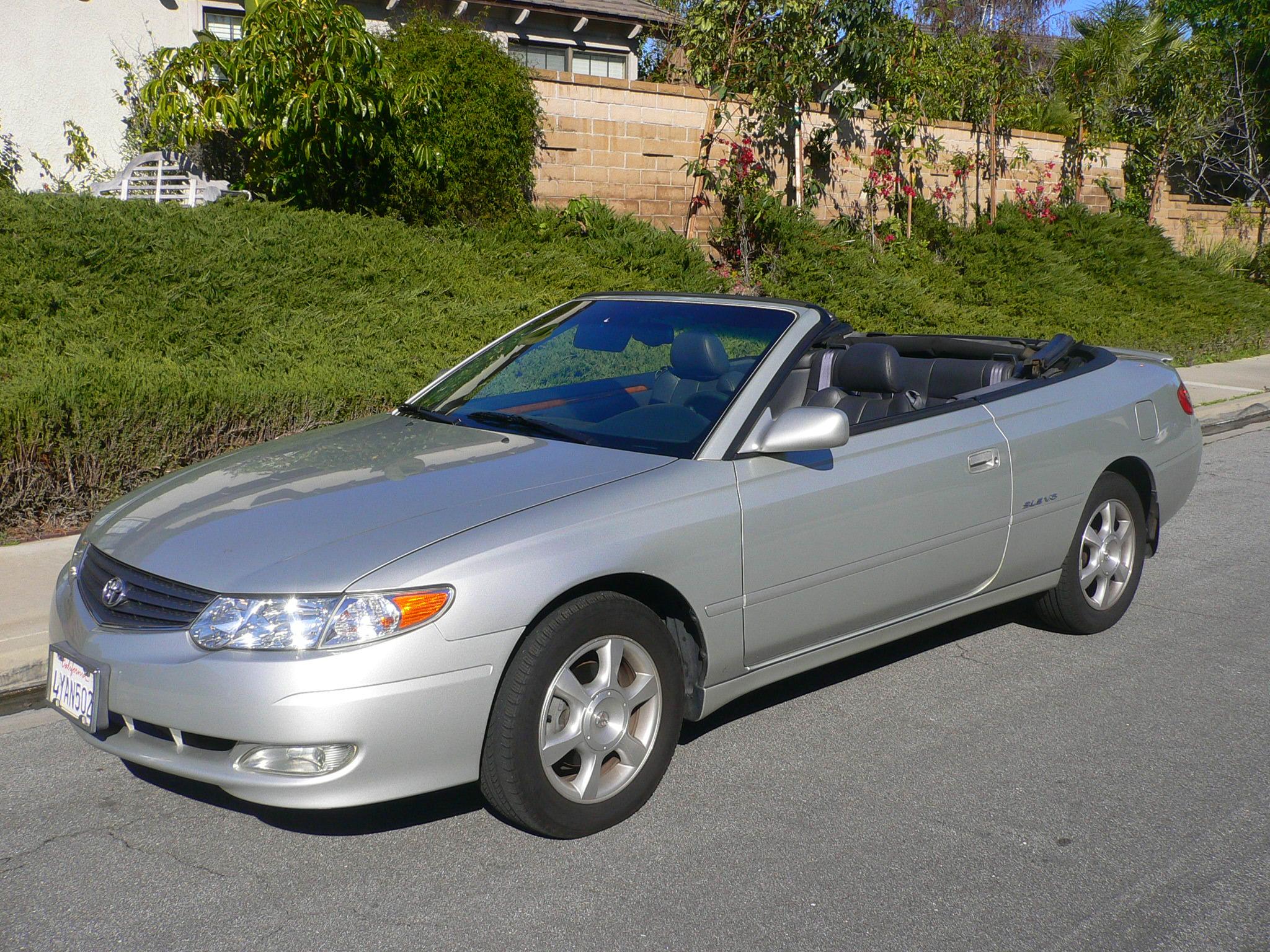 2003 toyota solara sle 109 473 miles v6 automatic convertible alloy wheels